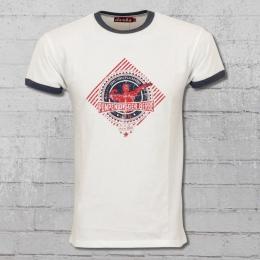 Derbe Hamburg Herren T-Shirt Lynne Pumpen Digger weiss