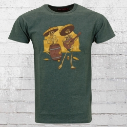 Derbe Hamburg Herren T-Shirt Muertos grün melange