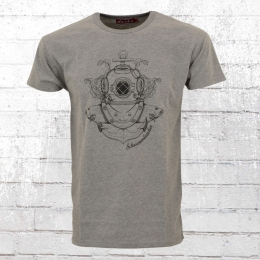 Derbe Hamburg Herren T-Shirt Schwammtaucher grau M