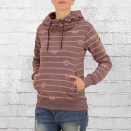 Derbe Hamburg Kapuzensweater Damen Seemannsbraut Rope weinrot