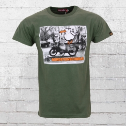 Derbe Hamburg Männer T-Shirt Bordsteinschwalbe oliv