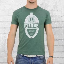Derbe Hamburg Männer T-Shirt Brewery grün meliert