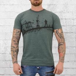 Derbe Hamburg Männer T-Shirt Hafenschiffer grün