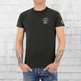 Derbe Hamburg Männer T-Shirt JF Hecht GOTS dunkel grau
