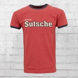 Derbe Hamburg Männer T-Shirt Mach Ma Sutsche rot