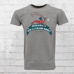Derbe Hamburg Männer T-Shirt Riesenkrabbe grau