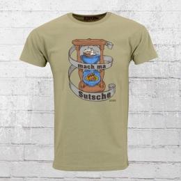 Derbe Hamburg Männer T-Shirt Sandglass oliv melange