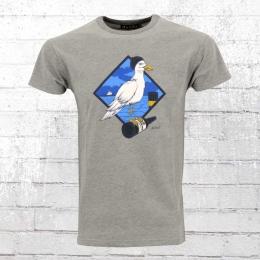 Derbe Hamburg Männer T-Shirt Sturmmöwe grau