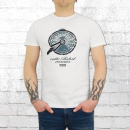 Derbe Hamburg Männer T-Shirt Telegraf weiss