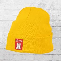 Derbe Hamburg Mütze Recycelt Bonnet gelb