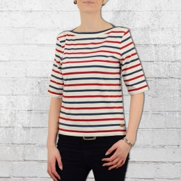 Derbe Hamburg Frauen T-Shirt Harbour Striped weiss bunt