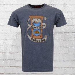 Derbe Hamburg T-Shirt Herren Sandglass blau melange