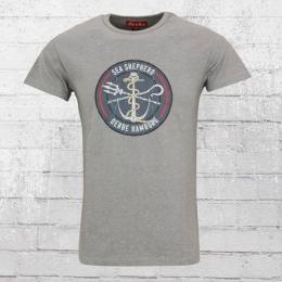 Derbe Hamburg T-Shirt JF Barsch Sea Shepherd grau