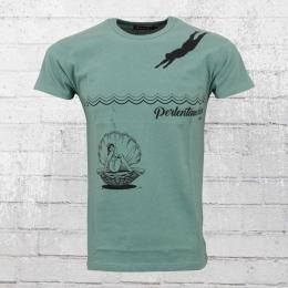 Derbe Hamburg T-Shirt Perlentaucher türkis L