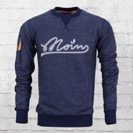 Derbe Herren Sweater Sly Moin denim blau melange