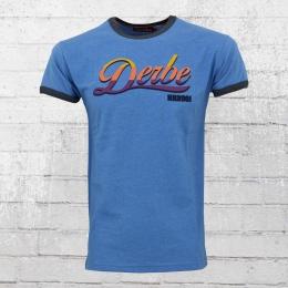 Derbe Herren T-Shirt Hansestadt Hamburg HH 2001 blau