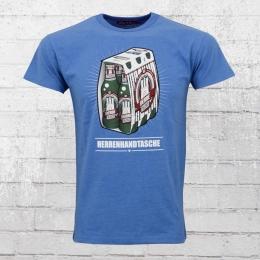 Derbe Herren T-Shirt Herrenhandtasche Reloded blau