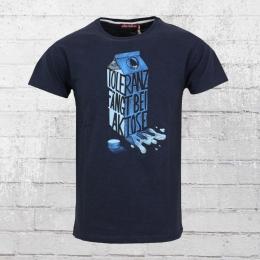Derbe Herren T-Shirt Laktose Toleranz blau