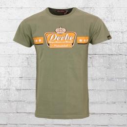 Derbe Herren T-Shirt Miezen Macker Moneten grün