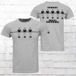 Derbe Herren T-Shirt Ohne Kurbeln grau