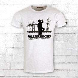 Derbe Herren T-Shirt Pollerhocken weiss