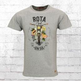 Derbe Herren T-Shirt Rota Do Sul grau meliert