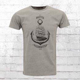 Derbe Herren T-Shirt Veermaster grau melange