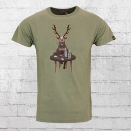 Derbe Herren T-Shirt Wild oliv