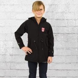 Derbe Island Kinder Friese Softshell Jacke schwarz grau