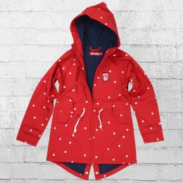 Derbe Kinder Softshell Jacke Lütten Island Dots Friese Kids rot