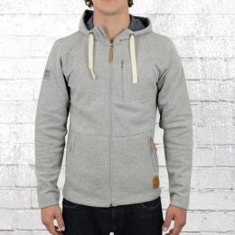 Derbe Männer Kapuzenjacke Daily Sweater grau meliert