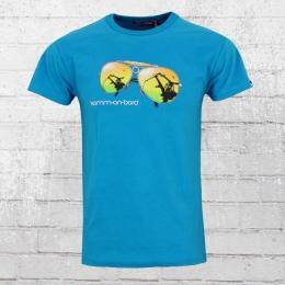 Derbe Männer T-Shirt Komm An Bord blau