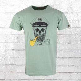 Derbe Hamburg Männer T-Shirt Spooky grün