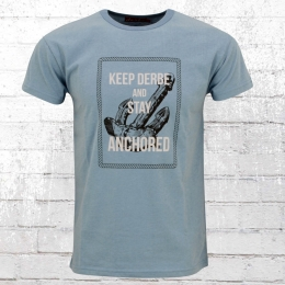 Derbe Männer T-Shirt Stay Derbe hellblau meliert