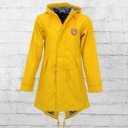 Derbe Regenjacke Dots Travel Friese Frauen Regenmantel gelb