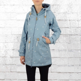 Derbe Softshell Jacke Island Friese Dots hellblau weiss gepunktet