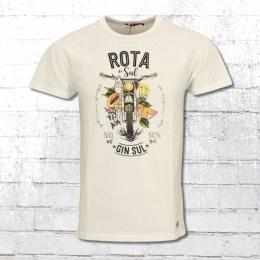 Derbe T-Shirt Herren Rota Do Sul weiss