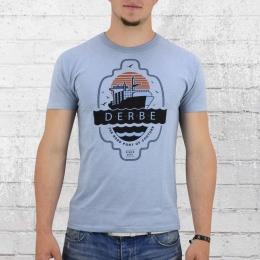 Derbe T-Shirt Männer Hercules hellblau melange