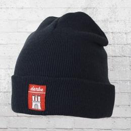 Derbe Winter Mütze Basic Beanie navy blau