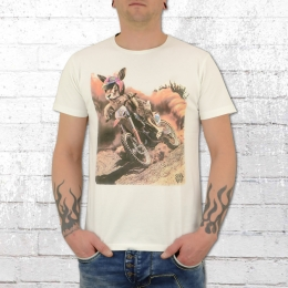 Dirty Velvet Herren Shirt Cross Hare weiss