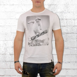 Dirty Velvet Herren T-Shirt Air Bear weiss