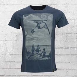 Dirty Velvet Herren T-Shirt Aviator Organic Cotton blau