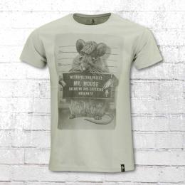Dirty Velvet Herren T-Shirt Mr Mouse grau