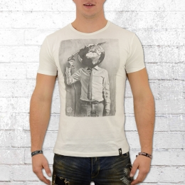Dirty Velvet Herren T-Shirt Petrol Head weiss