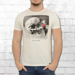 Dirty Velvet Herren T-Shirt The Last Laugh weiss