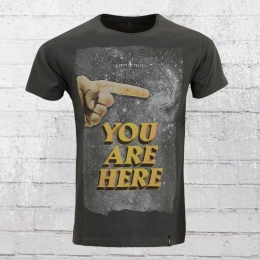 Dirty Velvet Herren T-Shirt You Are Here anthrazit