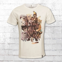 Dirty Velvet Männer T-Shirt Party Animals weiss