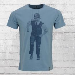 Dirty Velvet Mens T-Shirt Policchio mid blue