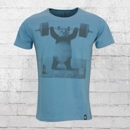Dirty Velvet Panda Power T-Shirt blau