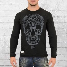 Dirty Velvet Pullover Männer Death Mask schwarz